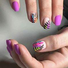 Gel Manicure Designs, Manicure Y Pedicure, Mani Pedi, Nail Art Designs, Hair And Nails, My Nails, Girls Nails, Ballerina Nails, Nail Inspo