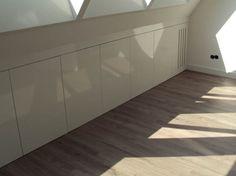 Eaves Storage, Roof Storage, Attic Storage, Loft Room, Bedroom Loft, Modern Bedroom, Built In Shelves, Built In Storage, Tiny House Furniture