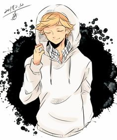 Cute Adrien in a hoodie (Miraculous Ladybug)