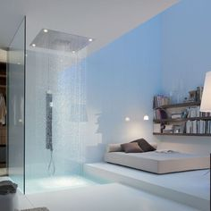Recessed ceiling shower head / square / rain / with built-in light - SHOWERCOLLECTION: 10623800 by Philippe Starck - Axor - Videos