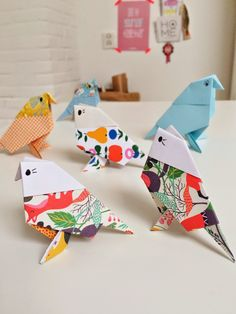 Pinterest DIY: origami birds | Wimke