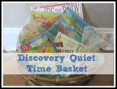 Discovery Quiet Time Basket - for Rest Time when they are too big for naps