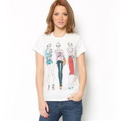 Pure Cotton Round Neck Short-Sleeved Printed T-Shirt