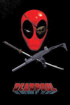 Deadpool Eye Patch Maxi Poster