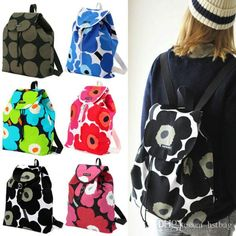 2017 Marimekko Backpack Unikko Drawstring Bag Light Weight Day Pack Hot Sale Rucksack Quality Daypack From Hstbag, $26.34 | Dhgate.Com
