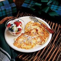 Polish apple pancakes. So wonderful.  For single serving, I like this recipe: http://www.flickr.com/photos/lolabix/2955101659