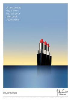 John Lewis Southampton lipstick print advertisement