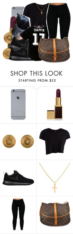 """""""10/13/15"""" by xtaymaxlovesxmisfitx ❤ liked on Polyvore featuring Tom Ford, Chanel, Pieces, NIKE, Sterling Essentials and Louis Vuitton"""