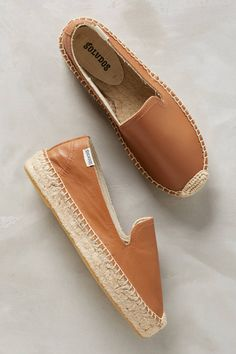 Slide View: 1: Soludos Cognac Leather Espadrilles