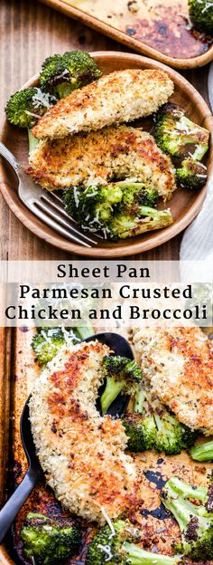 Sheet Pan Parmesan Crusted Chicken and Broccoli is a family friendly, easy to make dinner that's perfect for busy nights! Sheet Pan Parmesan Crusted Chicken and Broccoli is a family friendly, easy to make dinner that's perfect for busy nights! Broccoli Recipes, Chicken Recipes, Chicken Broccoli, Pan Cooked Chicken, Parmesan Crusted Chicken Easy, Pasta Recipes, Almond Crusted Chicken, Chicken Nachos, Parmesan Recipes