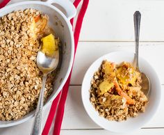 Apple Pineapple Crisp -- dessert for breakfast! Get the recipe on our blog.