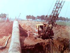 Construction Images, Bucyrus Erie, Crawler Crane, Heavy Equipment, Utility Pole