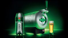 Heineken's Countertop Sub Chills Beer Colder Than Your Fridge Can. Designed by Marc Newson and built by Krups, the pressurized aluminum appliance gets its name from its submarine-like appearance, which Heineken has decided to run with. The Sub's refills come as metal cylinders filled with beer affectionately called Torps—short for torpedos—that are loaded through a hatch below the The Sub's tap.