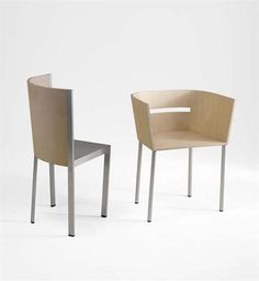REI KAWAKUBO Two Chairs, Model Nos. 13 And 17, C. 1997 Japanese