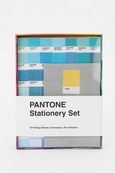 pantone stationary. i promise if i had it ill write letters to friends and family more often!
