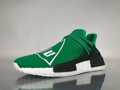 "7f53942b71181 Adidas NMD Human Race Pharrell Williams ""Green"" Real Boost BB0620 for  Sale 02 The latest"