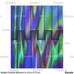 Bright Colorful Abstract Fleece Blanket