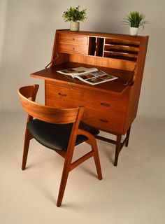 mid century teak secretary....I need this is my life. In my bedroom to be exact!