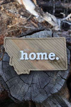 home. Etched Wood Wall Plaque