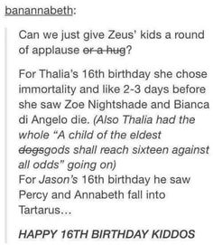 <<<You're thinking poor Zeus kids, I'm thinking about the 'crossed out' dogs Percy Jackson Memes, Percy Jackson Books, Percy Jackson Fandom, Thalia Grace, Jason Grace, Solangelo, Percabeth, Hunger Games, Heroes Of Olympus