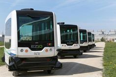 The Easymile EZ10 is a driverless bus can carry up to ten passengers and is paving the way for driverless cars.