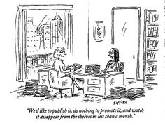 cartoon How to save thousands of dollars publishing your book (9 reasons you shouldnt work with a small press).