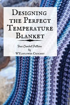 Learn how to design the perfect temperature blanket for your space and your story. Crochet Ripple, Crochet Quilt, Tunisian Crochet, Afghan Crochet Patterns, Crochet Home, Crochet Crafts, Crochet Stitches, Crochet Projects, Free Crochet