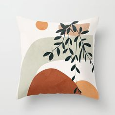 Soft Shapes I Couch Throw Pillow by City Art - Cover x with pillow insert - Indoor Pillow Big Pillows, Brown Pillows, Modern Throw Pillows, Throw Cushions, Outdoor Throw Pillows, Designer Throw Pillows, Throw Pillow Covers, Decorative Pillow Cases, Modern Pillow Cases
