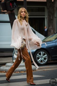 Elena Perminova by STYLEDUMONDE Street Style Fashion Photography