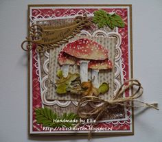 Fall Cards, Card Making, Paper Crafts, Autumnal, Mushrooms, Frame, Handmade, Decor, Tuna