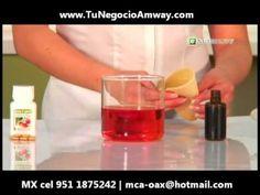 Demostracion Nutrilite Lecitina E AntiOxidante y Elimina Grasas del Organismo www TuNegocioAmway com - YouTube