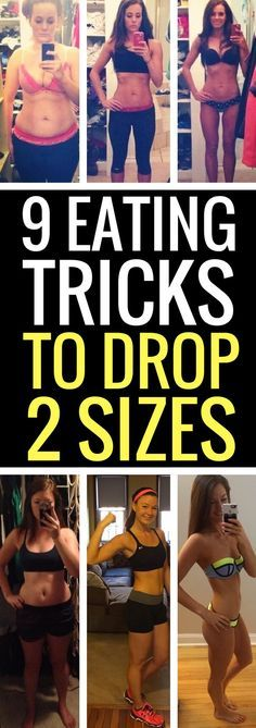 9 eating tricks to drop 2 dress sizes fast.