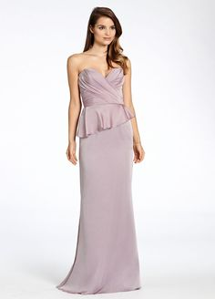 Lavender luminescent chiffon strapless sweetheart neckline, natural waist with peplum detail Bridesmaids Dresses: Junior, Maternity & Flower Girl Dresses by Jim Hjelm Occasions - Bridesmaids and Special Occasion Style jh5509 by JLM Couture, Inc.