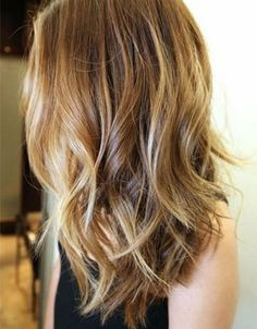 Tortoiseshell A.K.A Ecaille technique. Gorgeous on wavy or curled hair.