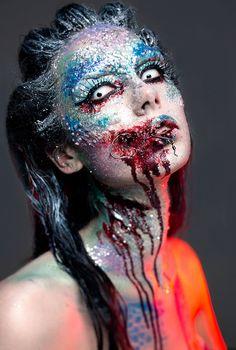 #halloween #angiey #makeup #mermaid #halloweenmakeup