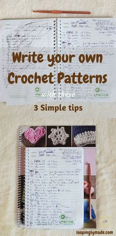 Writing crochet patt