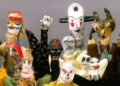 Paul Klee (Swiss-German 1879-1940),  Untitled hand puppets, 1916-1925. Collection Zentrum Paul Klee, Bern.