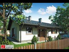 Přízemní malý rodinný dům s krytou terasou. Village House Design, Bungalow House Design, Village Houses, Architectural House Plans, Round House, Small House Plans, Home Fashion, Ideal Home, Planer