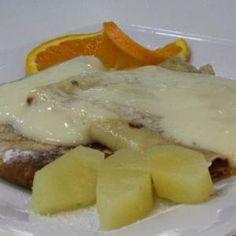 Ananászos palacsinta - Megrendelhető itt: www.Zmenu.net - A vizuális ételrendelő. Eggs, Chicken, Meat, Breakfast, Food, Morning Coffee, Eten, Egg, Meals