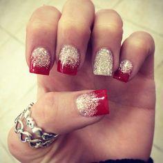 Fake Nails Designs Glittery