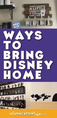 WOW! Some great ways to bring subtle Disney touches to your own home!