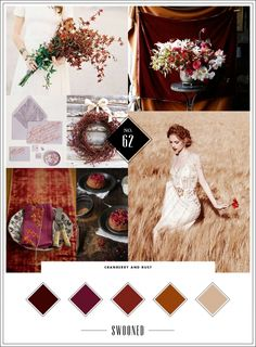 Mood Board #62: Cranberry & Rust
