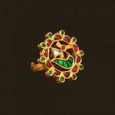 Gold Antique Ring (VBJ-OW-GR-14) | Vummidi Bangaru Jewellers
