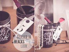 DIY/Gläser im black&white-look