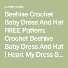 Ideas crochet baby dress diy free pattern for 2019 Crochet Flower Squares, Crochet Heart Blanket, Crochet Baby Beanie, Crochet Headband Pattern, Baby Knitting, Crochet Patterns, Diy Dress, Dress Set, Crochet For Kids