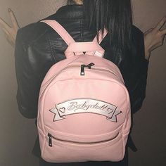 dollskill on ig - dollskill on ig Pastel Fashion, Pop Fashion, Girl Fashion, Daddy Kitten, Bling Shoes, Pink Sugar, North Face Backpack, Leather Backpack, Mini Backpack