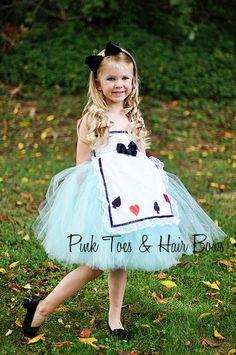 Alice in wonderland  tutu dress- Alice in wonderland costume-  Alice in wonderland Dress by GlitterMeBaby on Etsy https://www.etsy.com/listing/163251620/alice-in-wonderland-tutu-dress-alice-in