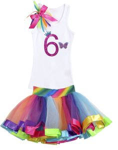 Bubblegum Divas Big Girls 6th Birthday Rainbow Monarch Butterfly Tutu Outfit 6. Glitter Butterfly Fairy Pixie Wings. Flower Spring Summer Garden Fairy Little Butterfly Wings. Tiny Critters. Glitter Number T-Shirt with Princess Crown. Handmade to Order using high quality Soft Materials.
