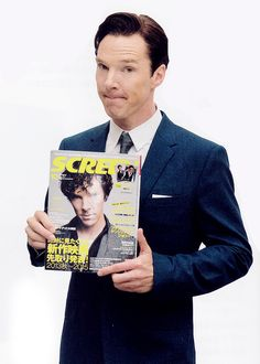 Benedict for Screen Magazine(c)   The only possible conclusion to making that face is because he really misses that hair cut. ;)