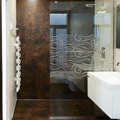 Sticker décoration paroi de douche: Vague Design.